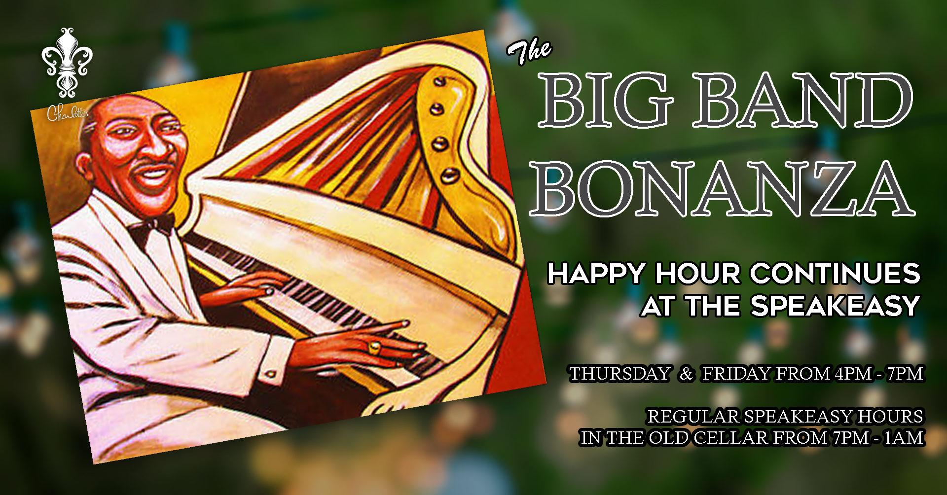 The Big Band Bonanza  sc 1 st  Charlotteu0027s Speakeasy & The Big Band Bonanza | Charlotteu0027s Speakeasy | Spirits u0026 Entertainment